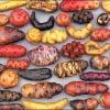 Картофельные клубни в музее Перу