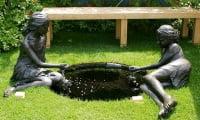 Стиль модерн в саду