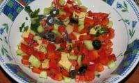 Салат со сладкого перца